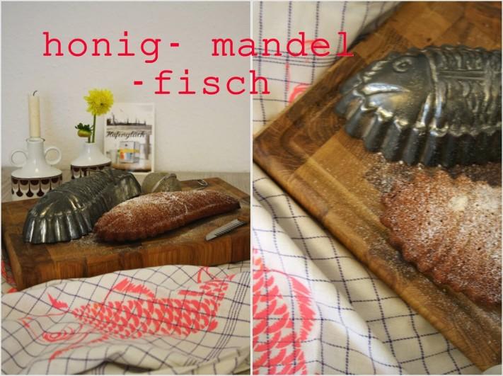 Honig Mandel Kuchen Fisch Und Das Passende Siebdruckergebnis