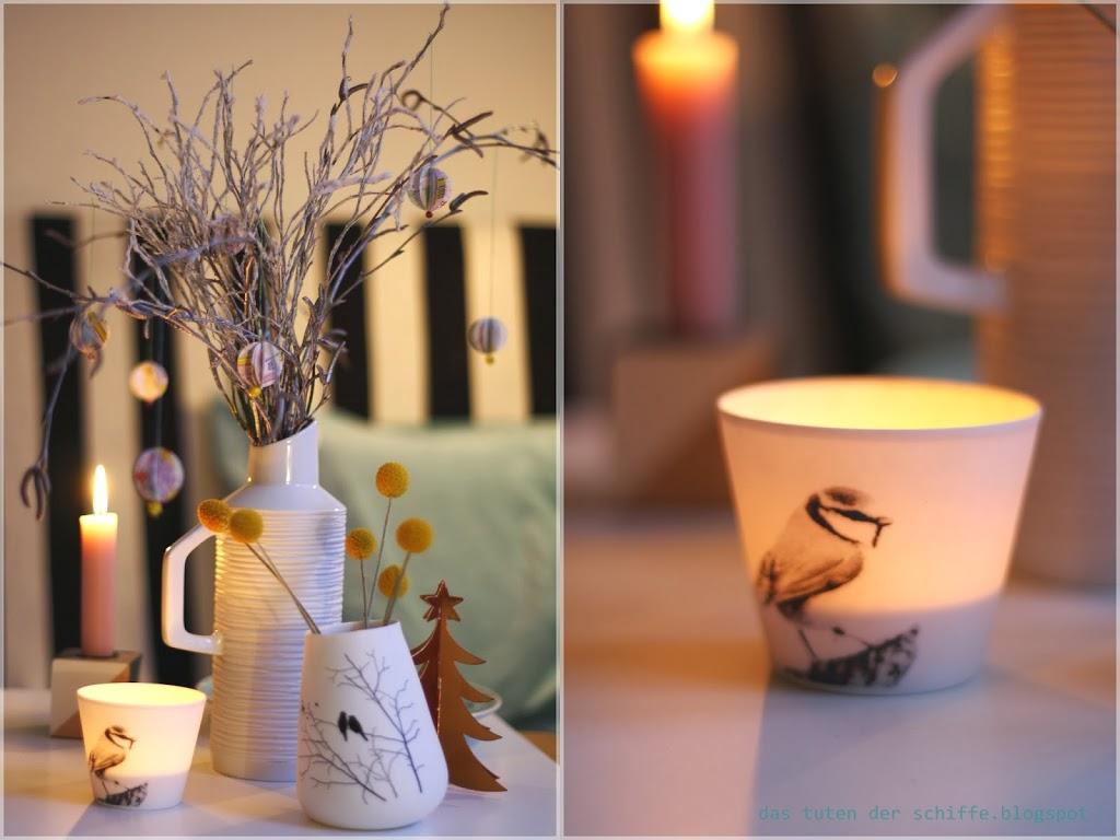 unweihnachtliche weihnachtsdeko und 3-d -papierbälle ~ DIY