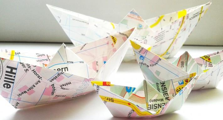 papierschiffchen, faltschiffchen