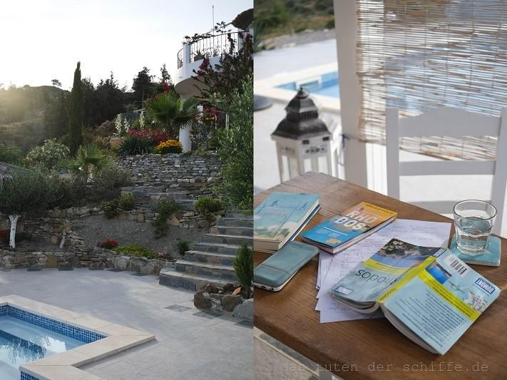 reiseplanung, pool, rhodos