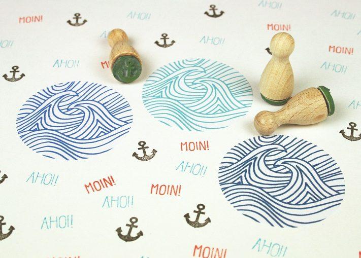 maritime stempel und aufkleber