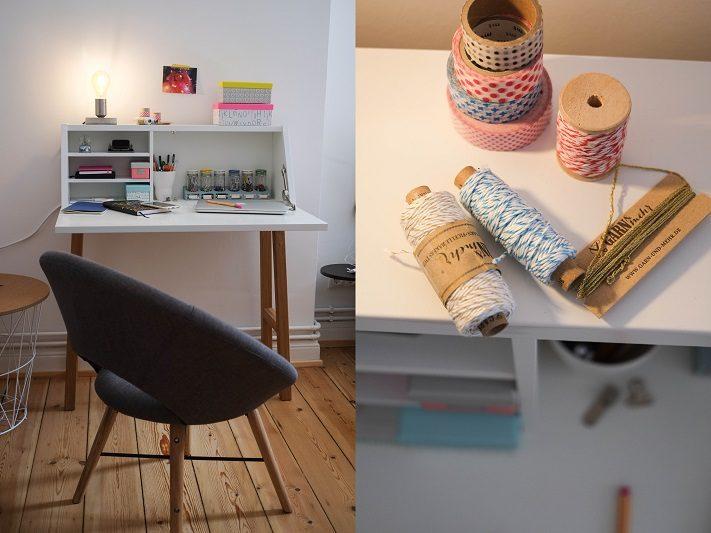 bedroom makeover - skandinavischer arbeitsplatz im schlafzimmer