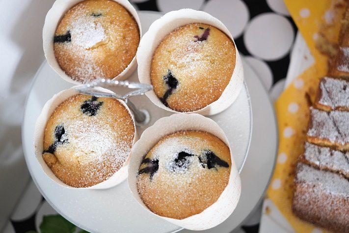 pancakesmuffins mit blaubeeren