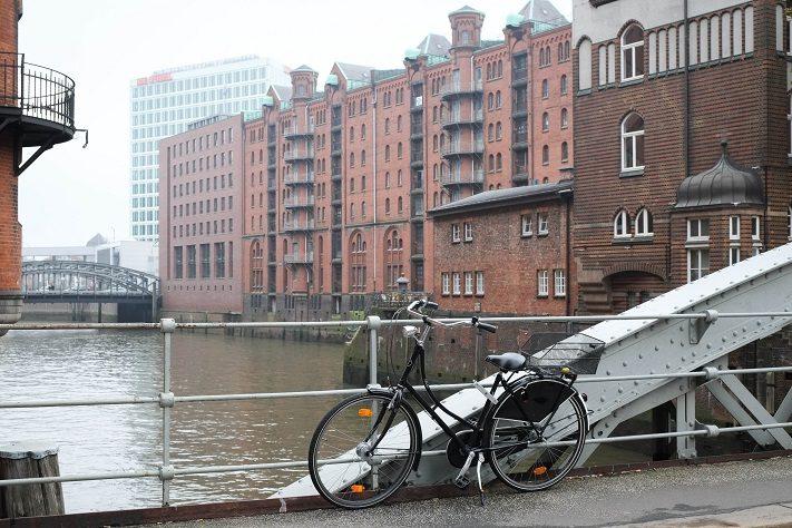 tour durch hamburg fahrrad speicherstadt
