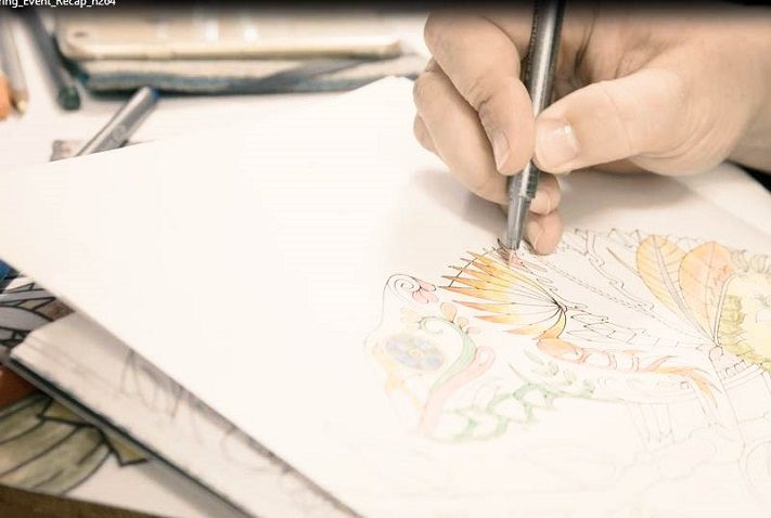 adult coloring workshop mit johanna basford