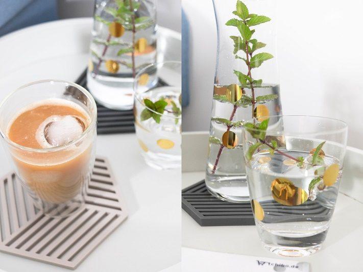 zuckerfreier eiskaffee mit geeister hafermilch