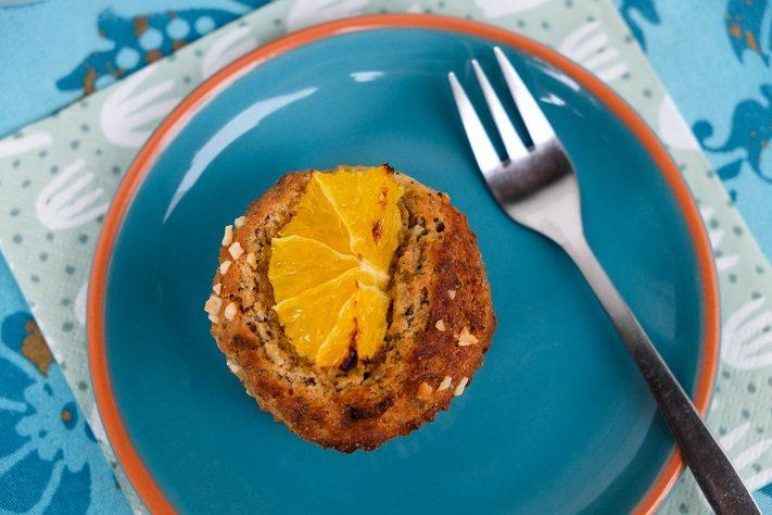 gesund backen - kokosmuffind mit mohn und orange