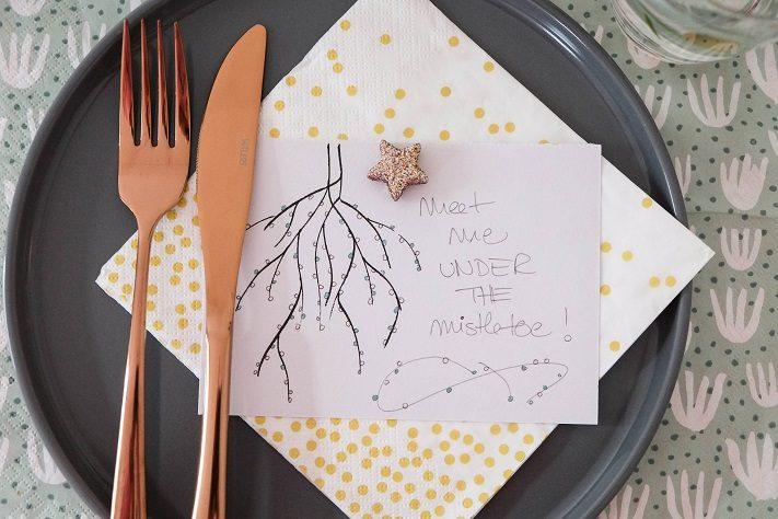 meet me under the mistletoe adventliche tischkarten