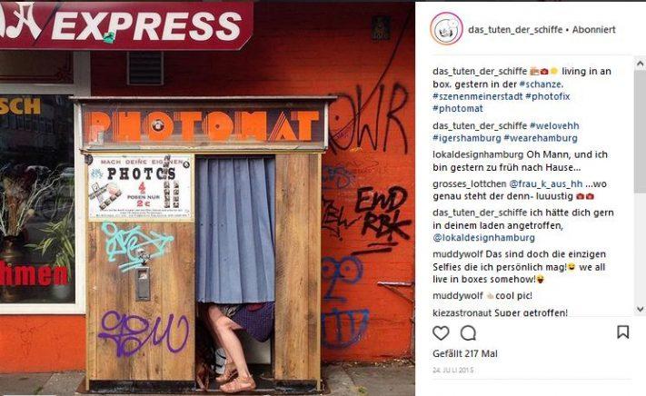 fotofixautomat in der hamburger schanze
