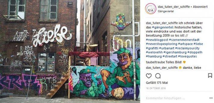 streetart im hamburger gängeviertel
