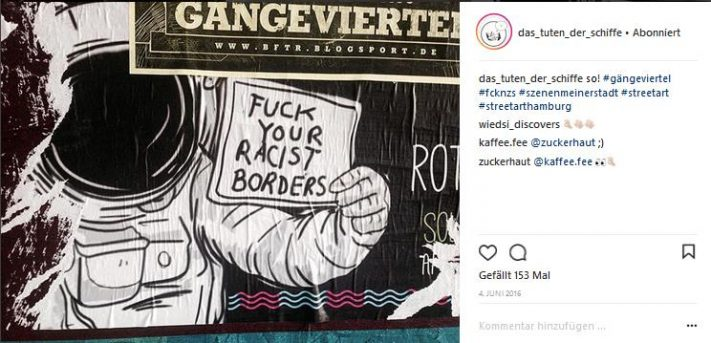 streetart gegen rassismus